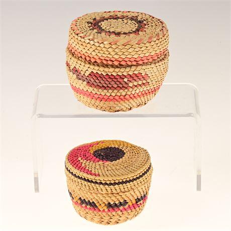 Pair of Tlingit Baskets