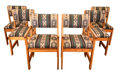 (6) Classic Oak Chairs