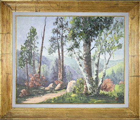 Original E.N. Cunningham Oil on Panel