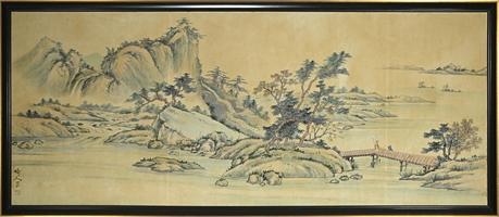 Vintage Chinese Landscape on Silk