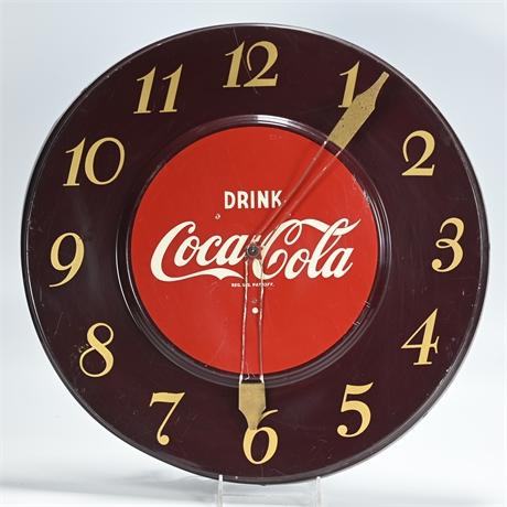 1950's Coca Cola Advertising Clock