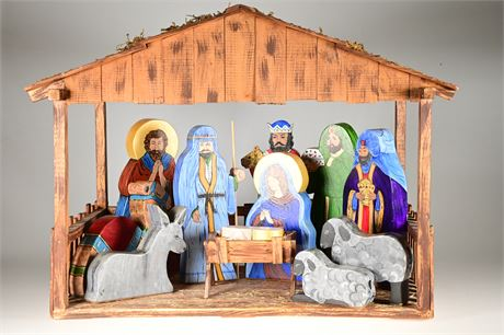 Hand Crafted and Hand Painted Nativity Set