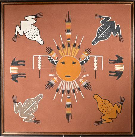 "Navajo ""Wind Chant"" Sandpainting"