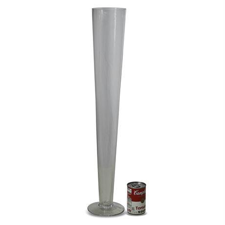 Glass Tapered Vase