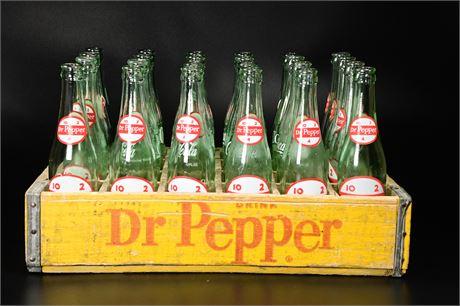 Vintage Dr.Pepper Wood Crate