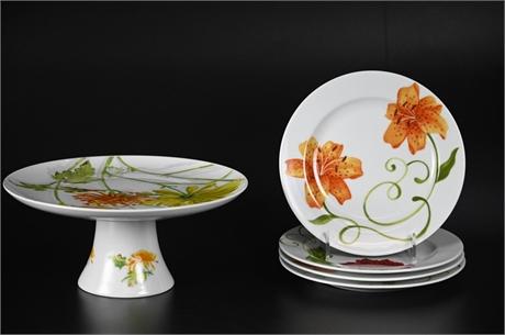 Floral Theme Dessert Set