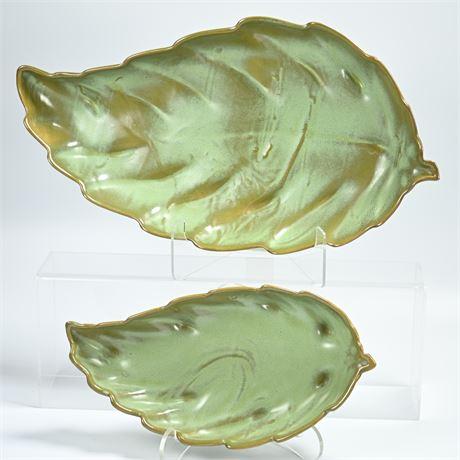 Vintage Frankoma Willow Leaf Serving Bowls