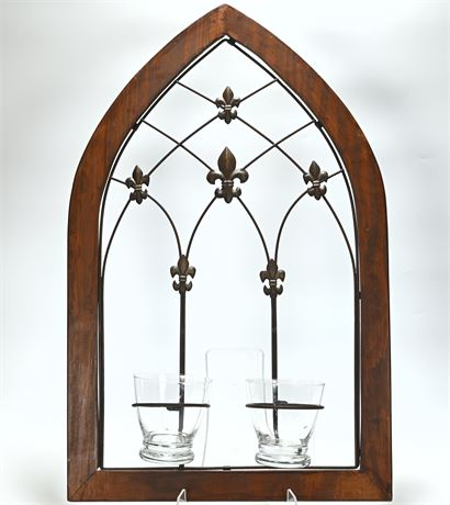 Arched Metal Wall Votive