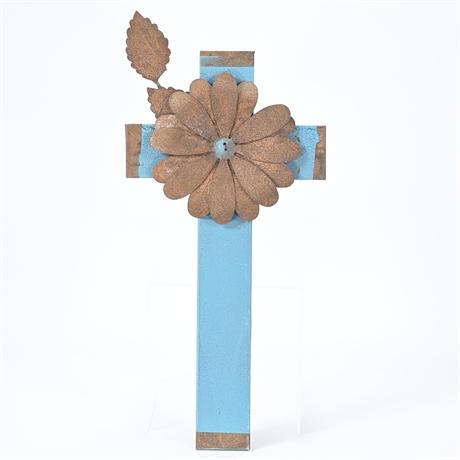 Metal and Wood Cross
