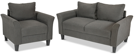 Casa Inc Contemporary Loveseat and Armchair