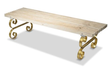 Iron and Wood Bench