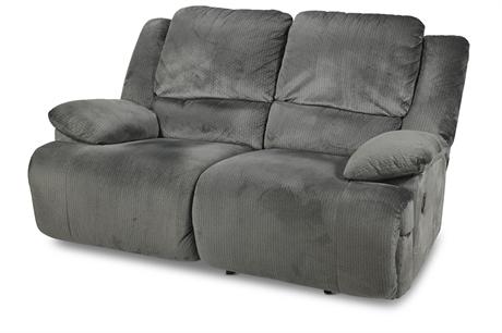 Ashley Clonmel Charcoal 2 Seat Reclining Sofa
