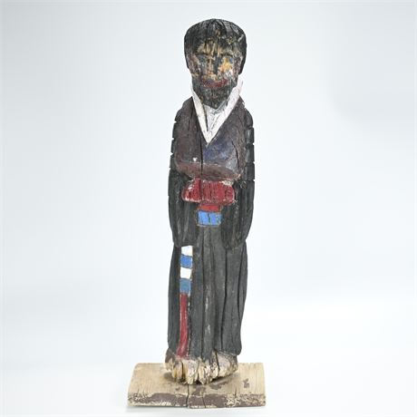 Antique/Primitive Carved Santo