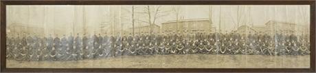 1918 WWI Field Artillery Panoramic Photo