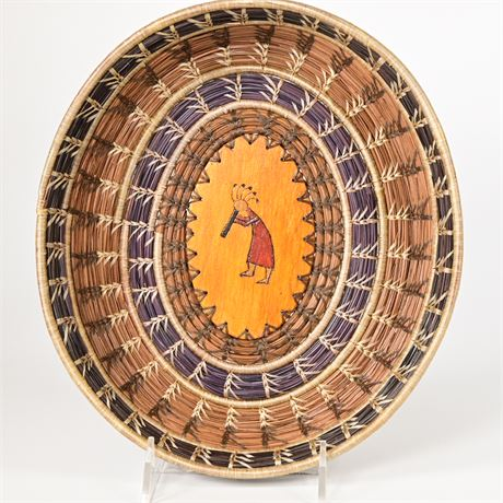 Kokopelli Pine Needle Basket