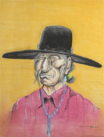 Thomas Arviso Navajo Pastel