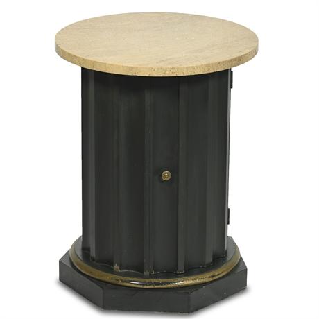 Vintage Stone Top Pedestal Column
