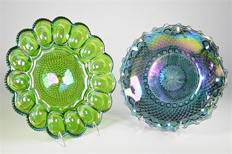 Carnival Glass Serving Accessories