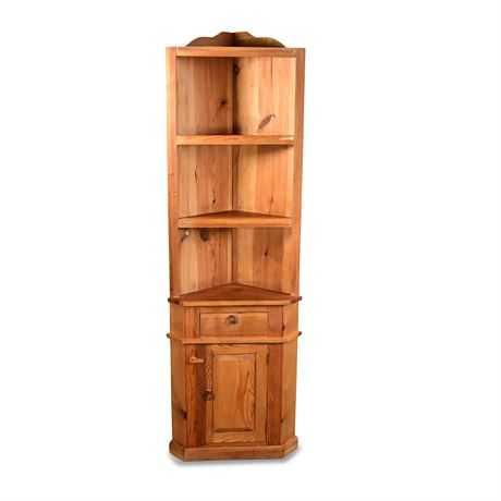 Rustic Corner Shelf
