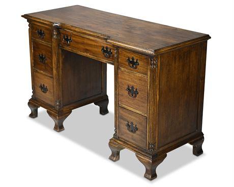 Antique Kling Double Pedestal Desk