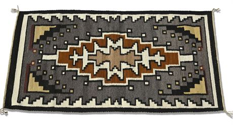 Two Grey Hills Style Navajo Weaving