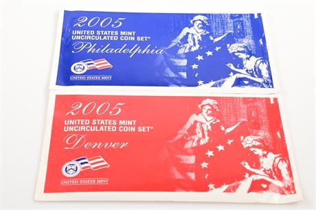 2005 Philadelphia and Denver Mint Sets
