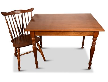 Kling Colonial Solid Maple Drop Leaf Table