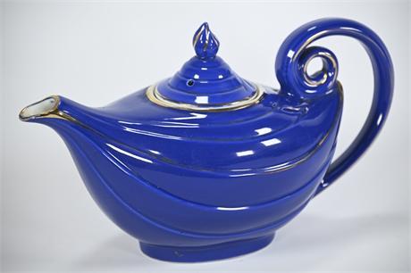 Hall Aladdin Teapot Cobalt Blue and Gold