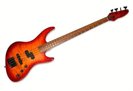 Guild Pilot Bass Deluxe Flame Maple BON JOVI - Alec John Such Played Guitar