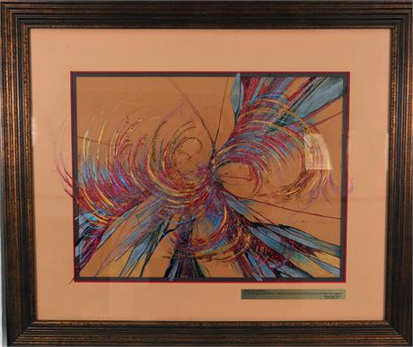 Renew Your Brilliance Spin Painting by Debbie Levy