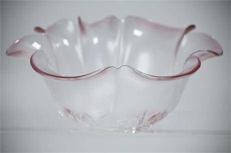Vintage Walther Glas Mikasa Rosella Crystal Bowl