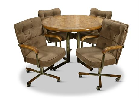 Classic 80's Dinette Set on Casters