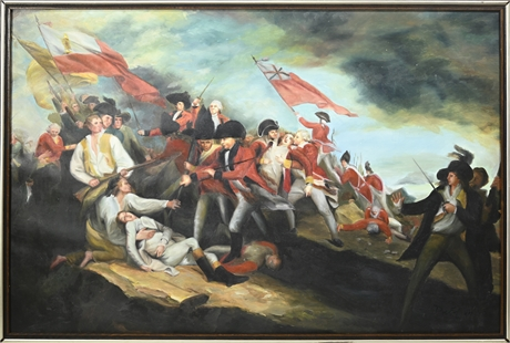 Death of General Mercer at the Battle of Princeton After John Trumbull