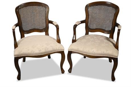Pair Queen Anne Armchairs