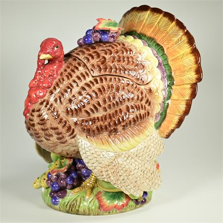Vintage Fitz and Floyd Autumn Bounty Turkey Tureen