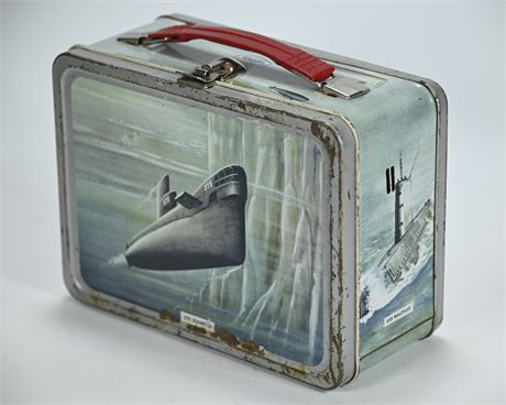 1960's Vintage Thermos US Navy Metal Lunch Box