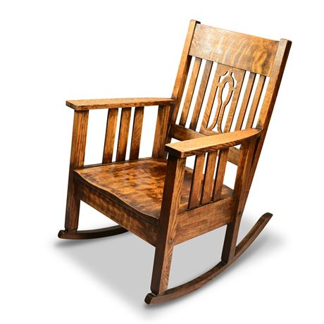 Craftsman Oak Rocking Chair Dated 1880