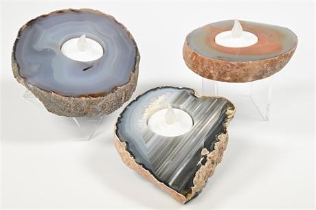 Set of 3 Geode Votives