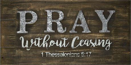 Pray Inspirational Plaque