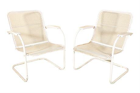 Mid-century Patio Rocking Chairs