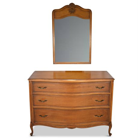 Classic French Provincial Dresser with Mirror