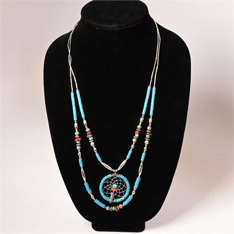 Nancy Montoya Dreamcatcher Necklace