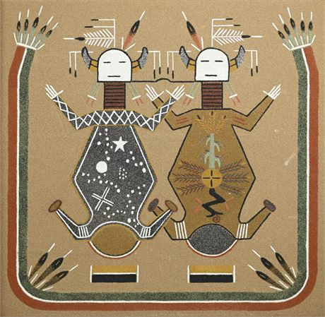 Keith Begay Mother Earth and Father Sky Sandpainting