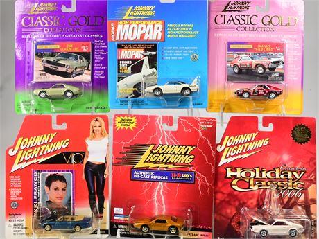(6) Johnny Lightning Classic Cars