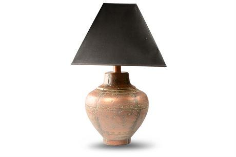 Ethan Allen Rajan Copper Lamp