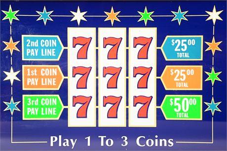 Las Vegas Slot Machine Glass Panel