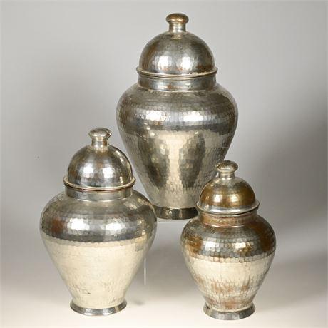 Hammered Copper Turkish Vases