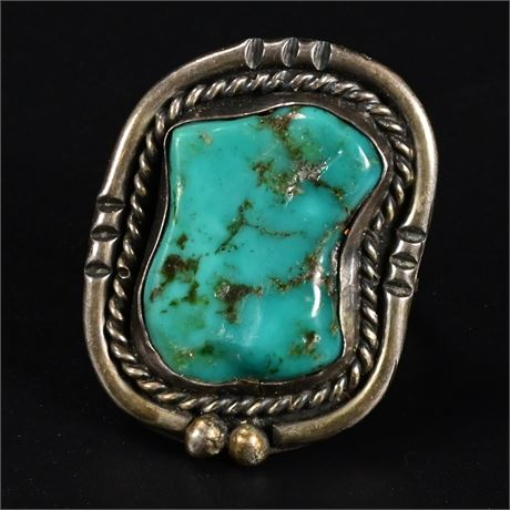 Old Navajo Pawn Turquoise Ring