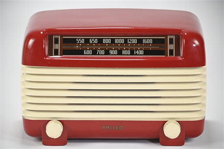 Philco Transitone Bakelite Deco Radio
