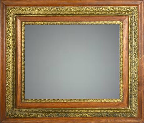 Antique Giltwood and Oak Mirror